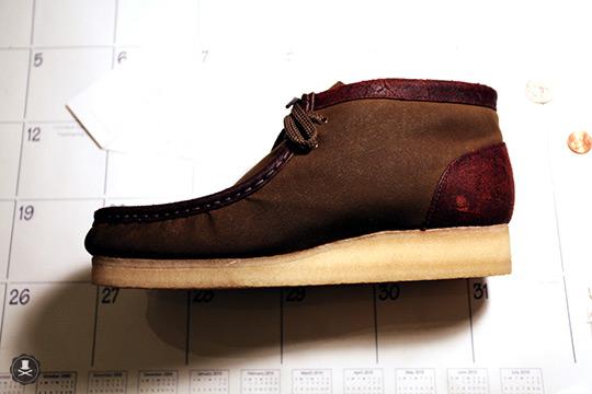 clarksbarbour1 Clarks x Barbour Fabrics Wallabee