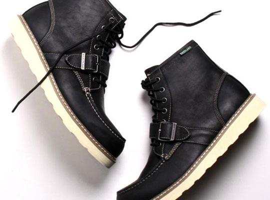 a.ok x Eastland Black Buckle Lace Up Boot 1 a.ok x Eastland Black Buckle Lace Up Boot