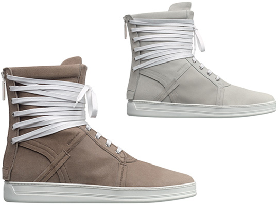 dior homme spring 2010 high top sneakers front Dior Homme High Top Sneakers for Spring 2010