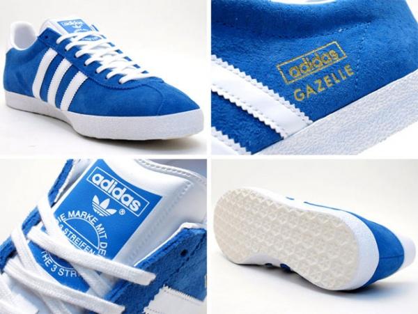 gazelle blue 3 Adidas Gazelle Blue/White