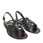 026K52500004 1 150x150 Lanvin Criss Cross Leather Sandal