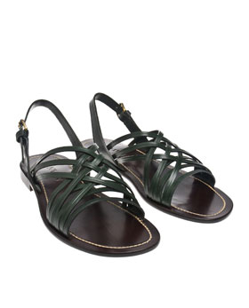 026K52500004 1 Lanvin Criss Cross Leather Sandal