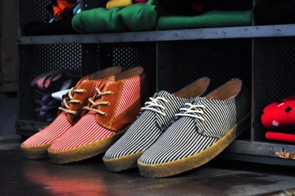 f troupe striped canvas shoes 0 F Troupe Stripe Canvas Shoe