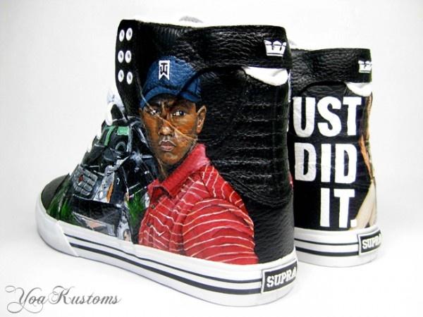 TigerWoods1 600x450 YaoKustoms Just Did It Tiger Woods Supra Hi Tops