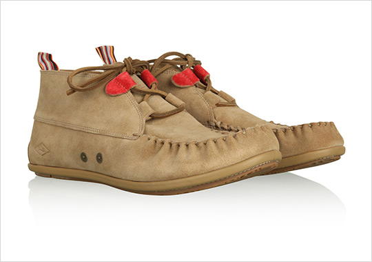 paul smith suede moccasin shoe selectism 0  Paul Smith Sand Suede Moccasin Boots