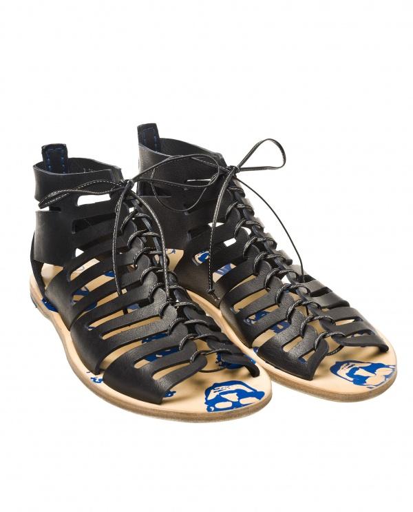 Alexander McQueen Leather Gladiator Sandal 01 Alexander McQueen Leather Gladiator Sandal