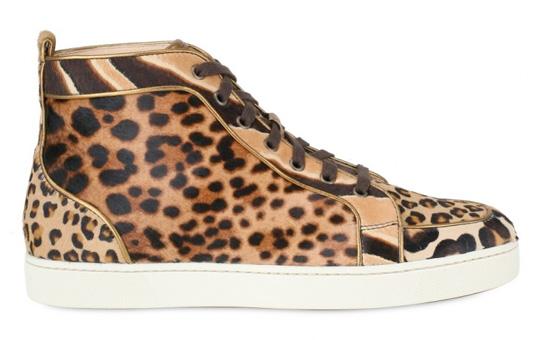 Christian Louboutin Leopard Print Sneakers 01 Christian Louboutin Leopard Print Sneakers