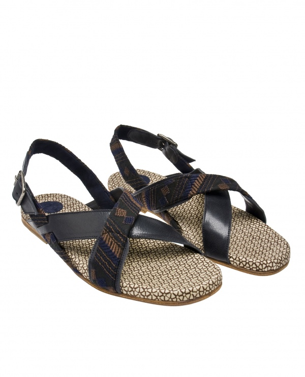 Dries van Noten Cotton Leather Sandals 01 Dries van Noten Cotton & Leather Sandals