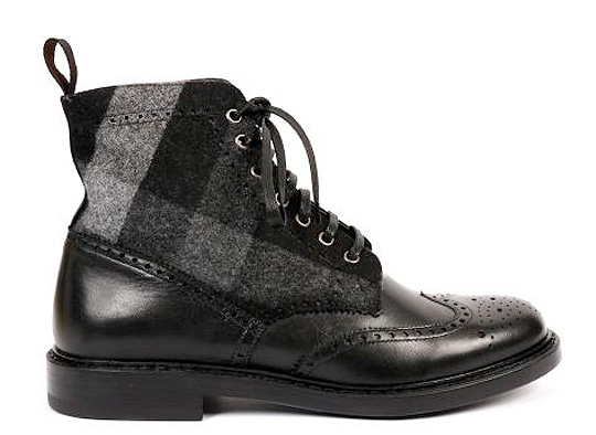 Trussardi 1911 Fall   Winter 2010 Leather Wool Boots 01 Trussardi 1911 Fall / Winter 2010 Leather Wool Boots