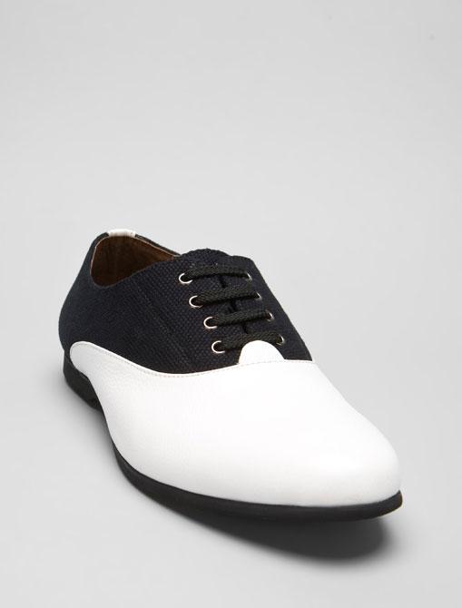 Black White Crayton Saddle Shoe by Jeffrey Campbell 01 Black & White Crayton Saddle Shoe by Jeffrey Campbell