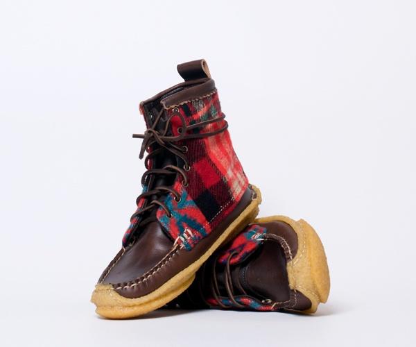 Yuketen Hunt Boots in Brown Red Quilt 01 Yuketen Hunt Boots in Brown Red Quilt
