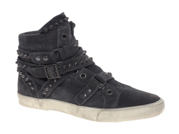 Ash Perry Studded Suede Hi Top Sneakers 01