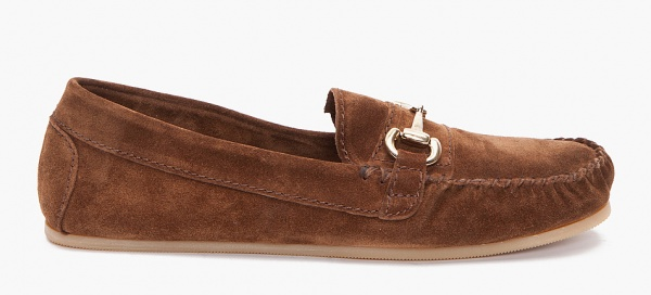 A.P.C. Brown Suede Moccasins 1