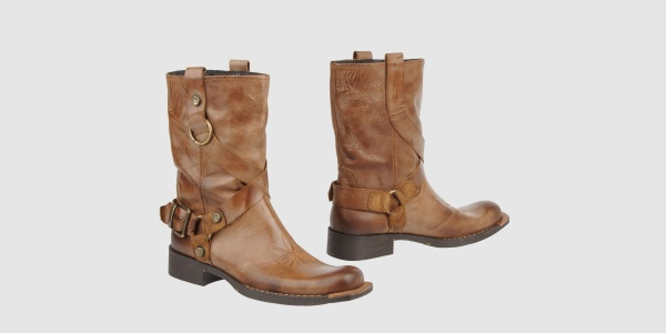 CafeNoir Tan Leather Boots CAFeNOIR Tan Leather Boots