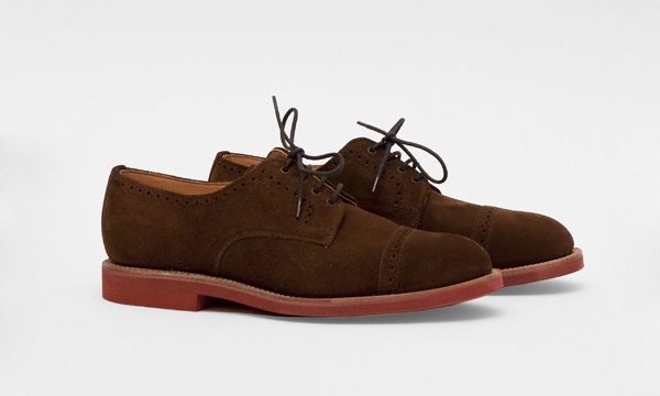 Mark McNairy Snuff Suede Cap Toe Shoe 1