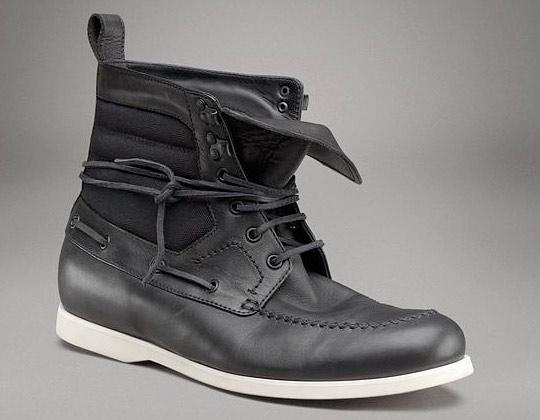 Bottega Veneta Nero Calf Canvas Ankle Boot Bottega Veneta Nero Calf Canvas Ankle Boot