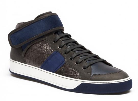 Lanvin Metallic Mid Top Sneaker03 Lanvin Metallic Mid Top Sneaker