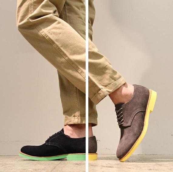 Walk Over Shoes Color Sole Derbys 1 Walk Over Shoes Color Sole Derbys