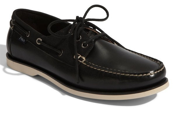 rlgb11.co.uk Ralph Lauren Kids' Youth Sander Boat Shoes Navy with
