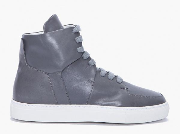 Kris Van Assche Grey High Top Sneakers01 Kris Van Assche Grey High Top Sneakers