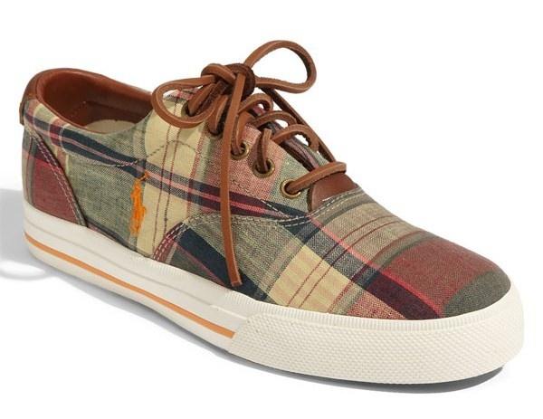 Polo Ralph Lauren Madras Vaughn Sneaker Polo Ralph Lauren Madras Vaughn Sneaker