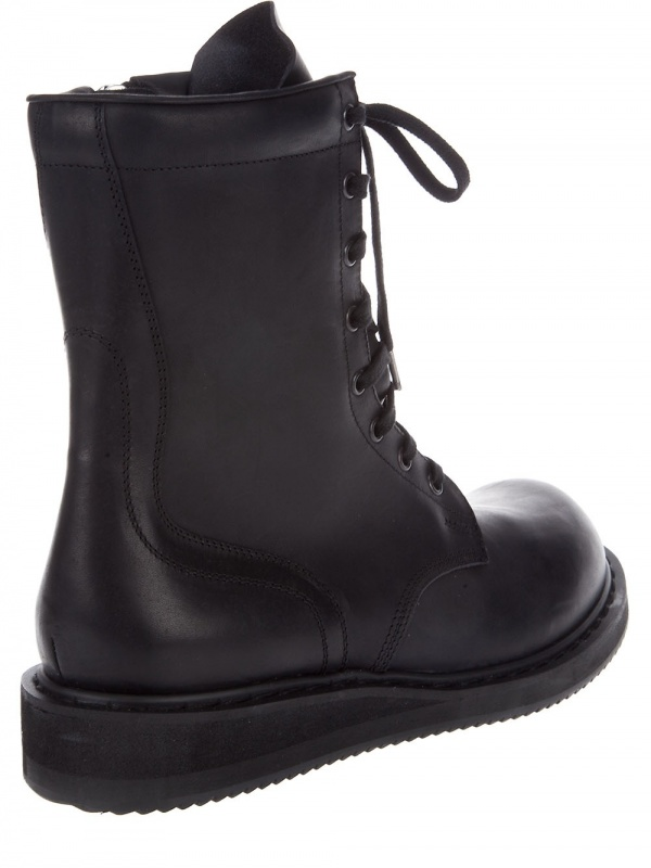 combat boots for men. Rick Owens Combat Boots 04
