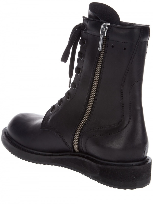 combat boots for men. Rick Owens Combat Boots 05