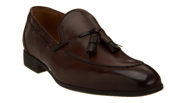 brown tassel loafers. Apron Toe Tassel Loafer