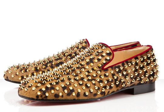 Christian Louboutin Rollerboy Spikes in Leopard