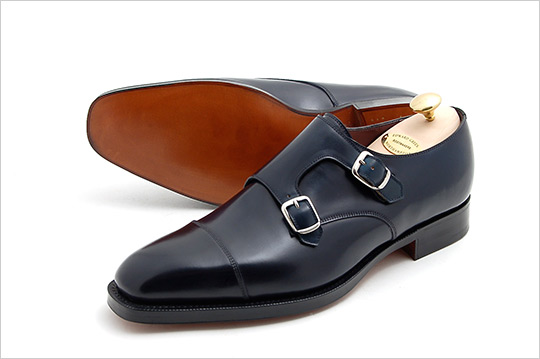 newest 2c236 be71f Edward Green for Leffot Double Monk Shoes 1 Edward Green for Leffot Double  Monk Shoes