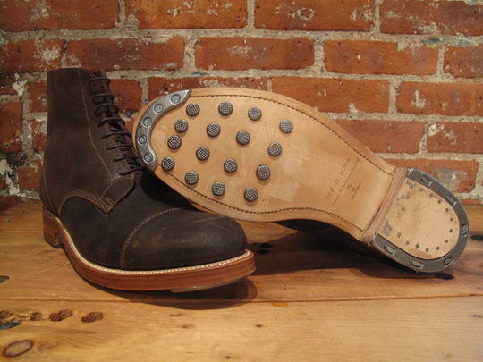 Grenson and Rag Bone Hob Nail Boot Collaboration Grenson and Rag & Bone Hob Nail Boot Collaboration