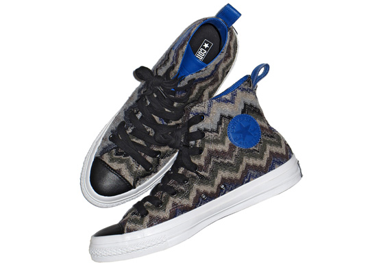Missoni Converse Chuck Taylor Blue High Tops Missoni & Converse Chuck Taylor Blue High Tops