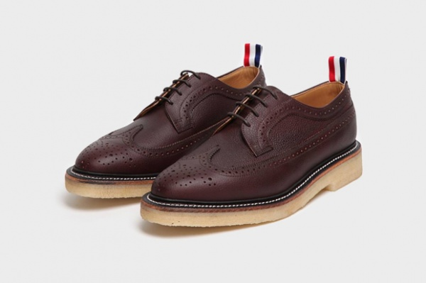 thom browne scotch grain wingtip brogue Thom Brown Wingtip Brogue