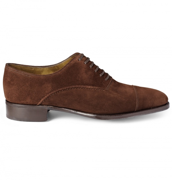 168508 mrp in xl John Lobb Saint Crispin Suede Oxford