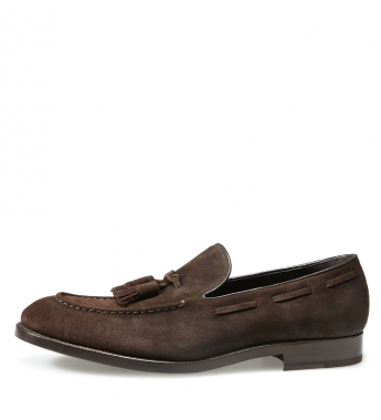 9460 68367 l p1 Fratelli Rossetti Dark Brown Suede Tassel Loafers