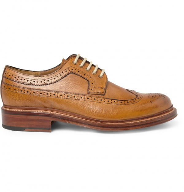 187117 mrp in xl Grenson Sid Light Brown Brogues