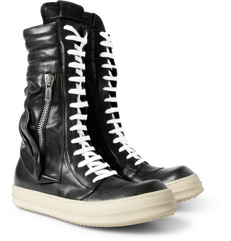 180201 mrp fr l Rick Owens Cargo Basket Leather Boots