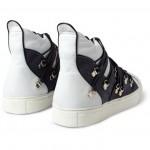 183386 mrp bk l 150x150 Raf Simons Lace Strapped High Top Sneaker