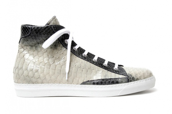 Alexander McQueen Python Skin High Top