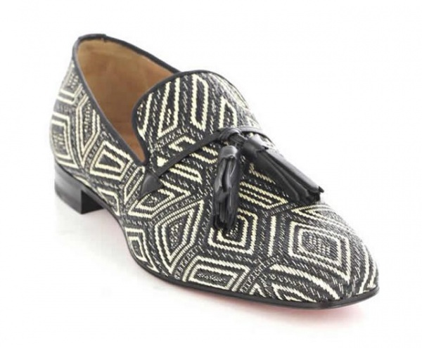 Christian Laboutin Daddy Panama Geometrico Loafer
