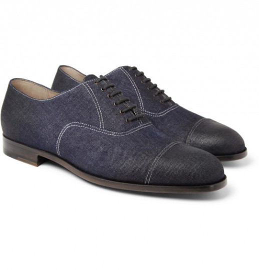 bottega veneta oiled denim oxford shoes 3 517x540 Bottega Veneta Oiled Denim Oxford Shoe