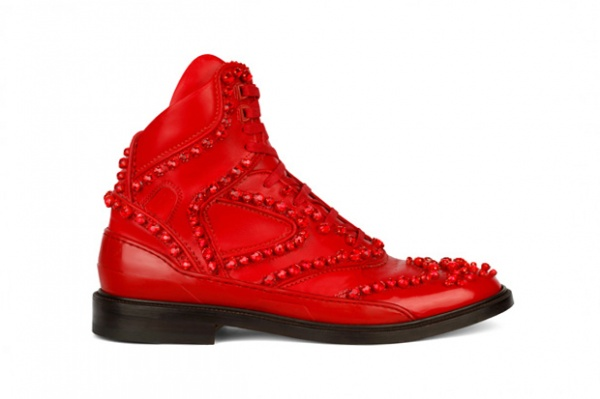 givenchy hybrid shoe 2012 1 Givenchy Fall 2012 Hightop Hybrid Sneaker