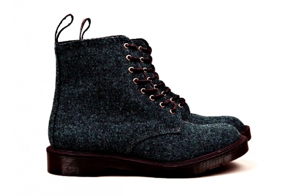 dr martens m i e harris tweed beckett 8 eye boot 1 Harris Tweed x Dr. Martens M.I.E. Beckett 8 eye Boot