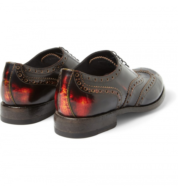 332471 mrp bk xl Paul Smith Chuck Burnished Leather Oxford