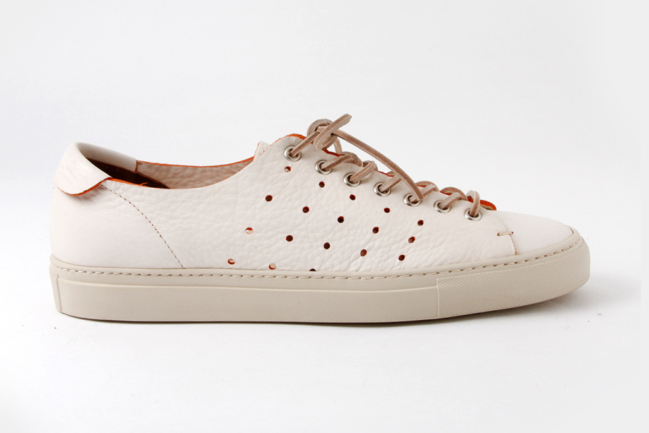 buttero 2013 perforated low top sneaker 1 Buttero Spring 2013 Perforated Low Top Leather Sneaker