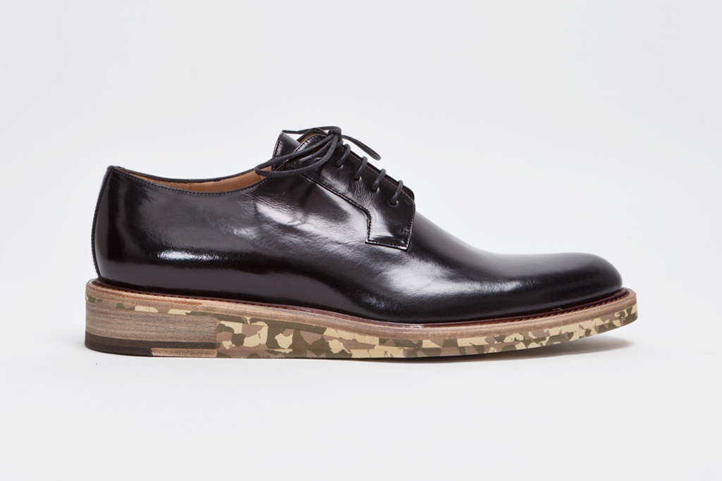 dries van noten derby shoe black camo 1 Dries Van Noten Derby Shoe in Black/Camouflage