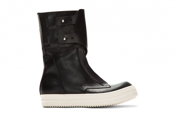 rick owens black monk strap military dunk boots 1 Rick Owens Black Monk Strap Military Dunk Boots