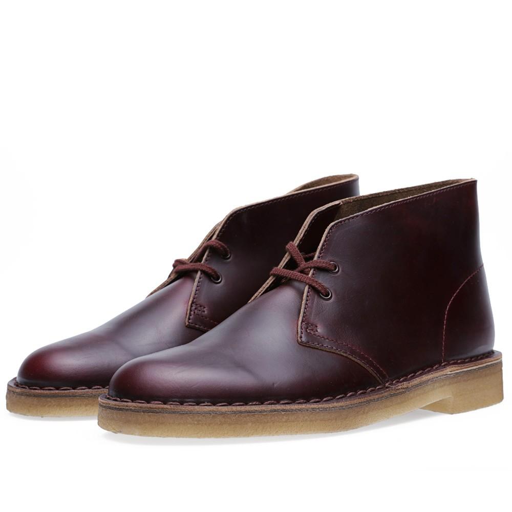 25 07 2013 clarks horweenleathercompanydesert burgundy 1 1 Clarks Originals x Horween Leather Company Desert Boot